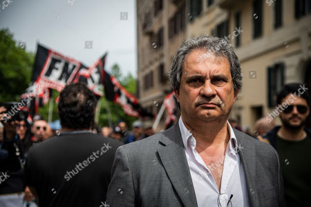 Editorial image of Far-right Forza Nuova protest against Mimmo Lucano, La Sapienza University, Rome, Italy - 13 May 2019