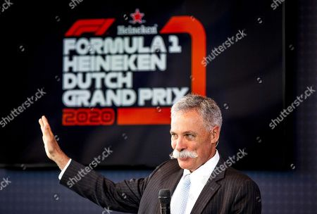 Formula One Group CEO Chase Carey speaks during a press conference on the 2020 Dutch Formula One Grand Prix at the Circuit Zandvoort, Netherlands, 14 May 2019. The Dutch Formula One Grand Prix will return to Zandvoort in May 2020 for the first time since 1985.