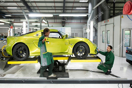 Lotus cars, hand made on the production line.