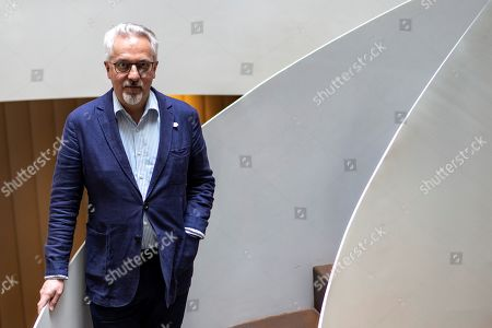 British writer Alan Hollinghurst poses during an interview in Barcelona, Spain, 14 May 2019, on the occasion of the presentation of the Spanish edition of his novel 'The Sparsholt Affair'.