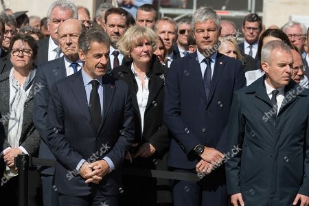 Nicolas Sarkozy, Nadine Morano, Laurent Wauquiez and French Ecological and Social Transition Minister Francois de Rugy.