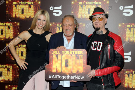 Stock Photo of Michelle Hunziker, Roberto Cenci and J-Ax
