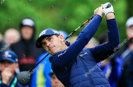 Billy Horschel of the US hits a tee shot on the fifteenth hole during practice for the 2019 PGA Championship at Bethpage Black in Farmingdale, New York, USA, 14 May 2019. The Championship runs from 16-19 May.