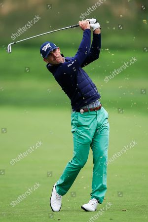 Billy Horschel of the US hits on the sixteenth hole during practice for the 2019 PGA Championship at Bethpage Black in Farmingdale, New York, USA, 14 May 2019. The Championship runs from 16-19 May.
