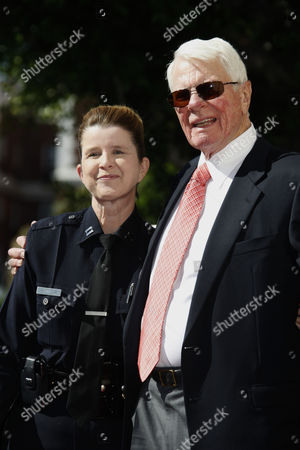 Peter Graves with LAPD Captain Beatrice Girmala