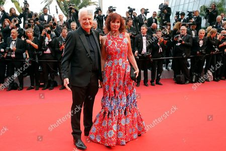 Sabine Azema (R) and Andre Dussollier arrive for the screening of 'The Dead Don't Die' and the Opening Ceremony of the 72nd annual Cannes Film Festival in Cannes, France, 14 May 2019. Presented in competition, the movie opens the festival which runs from 14 to 25 May.