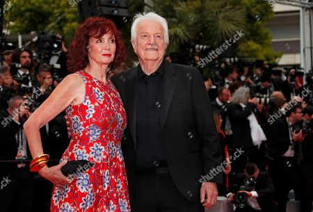 Sabine Azema (L) and Andre Dussollier (R) arrive for the screening of 'The Dead Don't Die' and the Opening Ceremony of the 72nd annual Cannes Film Festival in Cannes, France, 14 May 2019. Presented in competition, the movie opens the festival which runs from 14 to 25 May.