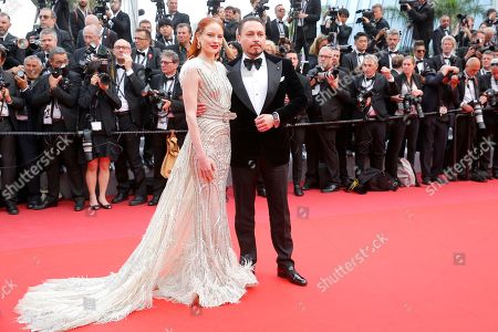 Barbara Meier (L) and Klemens Hallmann arrive for the screening of 'The Dead Don't Die' and the Opening Ceremony of the 72nd annual Cannes Film Festival in Cannes, France, 14 May 2019. Presented in competition, the movie opens the festival which runs from 14 to 25 May.