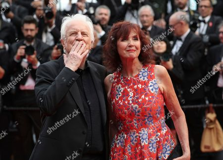 Andre Dussollier, Sabine Azema. Actors Andre Dussollier, left, and Sabine Azema pose for photographers upon arrival at the opening ceremony and the premiere of the film 'The Dead Don't Die' at the 72nd international film festival, Cannes, southern France