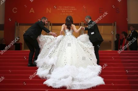 Singer Jessica Jung arrives at the opening ceremony and the premiere of the film 'The Dead Don't Die' at the 72nd international film festival, Cannes, southern France