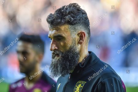 Aston Villa midfielder Mile Jedinak (15) during the EFL Sky Bet Championship play-off second leg match between West Bromwich Albion and Aston Villa at The Hawthorns, West Bromwich