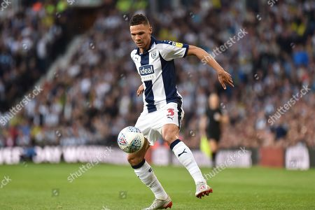 West Bromwich Albion defender Kieran Gibbs (3) controls the ball during the EFL Sky Bet Championship play-off second leg match between West Bromwich Albion and Aston Villa at The Hawthorns, West Bromwich