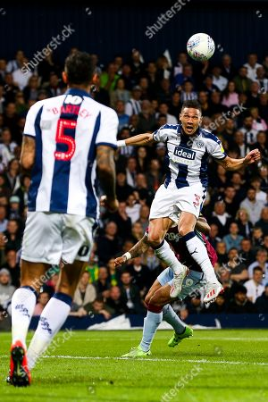 Kieran Gibbs of West Bromwich Albion clears