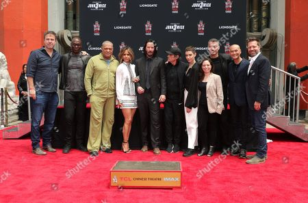 Basil Iwanyk, Producer, Lance Reddick, Laurence Fishburne, Halle Berry, Keanu Reeves, Ian McShane, Asia Kate Dillon, Erica Lee, Producer, Chad Stahelski, Director/Executive Producer, Mark Dacascos, David Leitch, Executive Producer