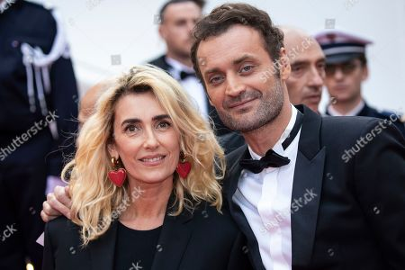 Mademoiselle Agnes, Augustin Trapenard. Mademoiselle Agnes and Augustin Trapenard pose for photographers upon arrival at the opening ceremony and the premiere of the film 'The Dead Don't Die' at the 72nd international film festival, Cannes, southern France