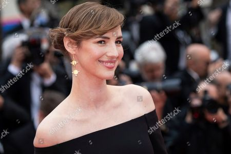 Louise Bourgoin poses for photographers upon arrival at the opening ceremony and the premiere of the film 'The Dead Don't Die' at the 72nd international film festival, Cannes, southern France