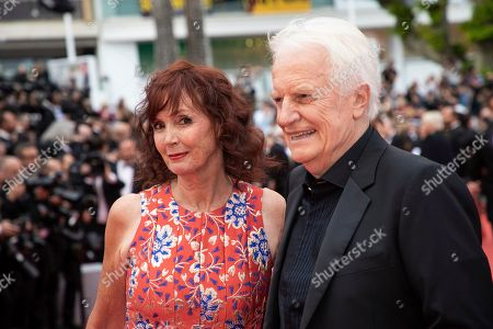 Sabine Azema, Andre Dussollier. Sabine Azema and Andre Dussollier pose for photographers upon arrival at the opening ceremony and the premiere of the film 'The Dead Don't Die' at the 72nd international film festival, Cannes, southern France