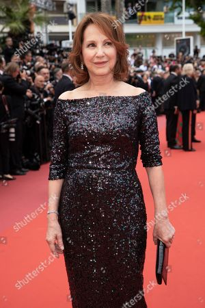 Nathalie Baye poses for photographers upon arrival at the opening ceremony and the premiere of the film 'The Dead Don't Die' at the 72nd international film festival, Cannes, southern France
