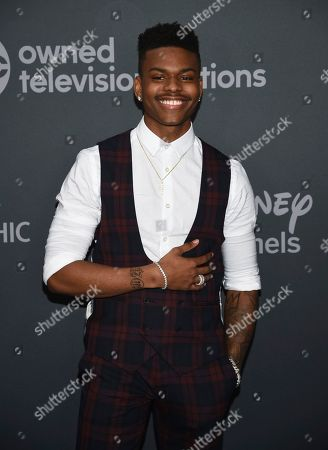 Aubrey Joseph attends the Walt Disney Television 2019 upfront at Tavern on The Green, in New York
