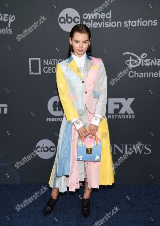 Eline Powell attends the Walt Disney Television 2019 upfront at Tavern on The Green, in New York