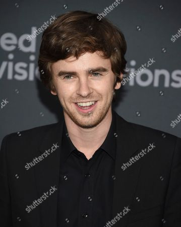 Freddie Highmore attends the Walt Disney Television 2019 upfront at Tavern on The Green, in New York