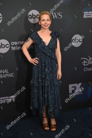 Lecy Goranson attends the Walt Disney Television 2019 upfront at Tavern on The Green, in New York