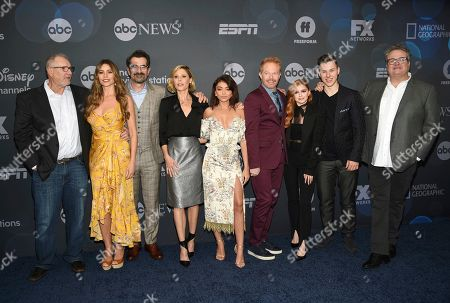 Ed O'Neill, Sofia Vergara, Ty Burrell, Julie Bowen, Sarah Hyland, Jesse Tyler Ferguson, Ariel Winter, Nolan Gould, Eric Stonestreet. Ed O'Neill, from left, Sofia Vergara, Ty Burrell, Julie Bowen, Sarah Hyland, Jesse Tyler Ferguson, Ariel Winter, Nolan Gould and Eric Stonestreet attend the Walt Disney Television 2019 upfront at Tavern on The Green, in New York