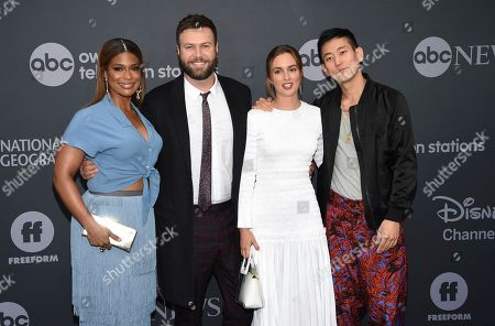 Kimrie Lewis, Taran Killam, Leighton Meester, Jake Choi. Kimrie Lewis, from left, Taran Killam, Leighton Meester and Jake Choi attend the Walt Disney Television 2019 upfront at Tavern on The Green, in New York