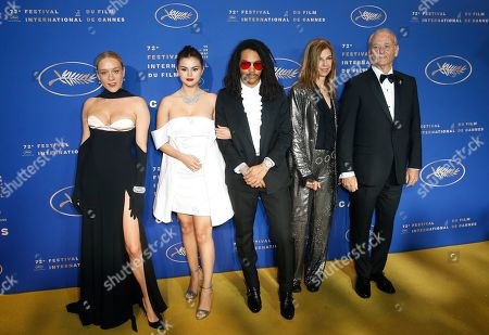 Chloe Sevigny, US actress Selena Gomez, Luka Sabbat, Sara Driver and US actor Bill Murray arrive for the Gala dinner after the Opening Ceremony of the 72nd annual Cannes Film Festival in Cannes, France, 14 May 2019. The festival runs from 14 to 25 May.