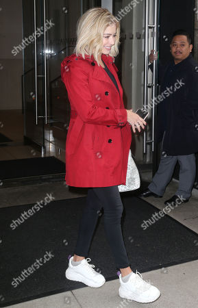 Editorial picture of Carmen Aub out and about, New York, USA - 14 May 2019