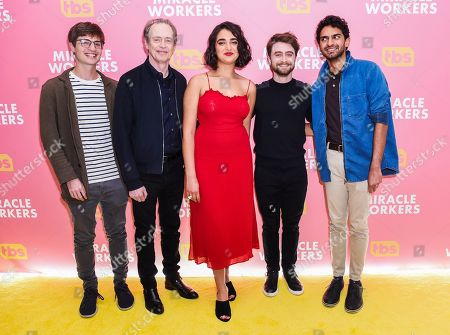 Simon Rich, Steve Buscemi, Geraldine Viswanathan, Daniel Radcliffe and Karan Soni