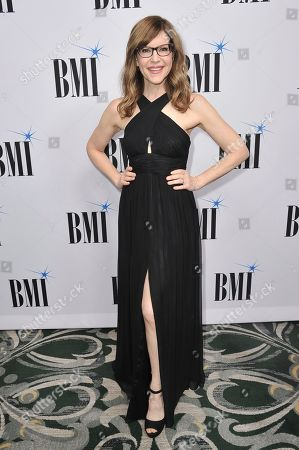 Lisa Loeb arrives at the 67th annual BMI Pop Awards, at the Beverly Wilshire Hotel in Beverly Hills, Calif