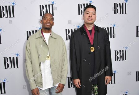 Ray Romulus, Jonathan Yip. Honorees Ray Romulus, left, and Jonathan Yip, of The Stereotypes, arrive at the 67th annual BMI Pop Awards, at the Beverly Wilshire Hotel in Beverly Hills, Calif