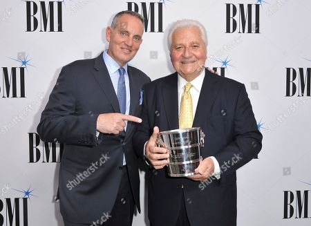 Mike O'Neill, Martin Bandier. Mike O'Neill, president and CEO, BMI, left, and Icon award winner Martin Bandier arrive at the 67th annual BMI Pop Awards, at the Beverly Wilshire Hotel in Beverly Hills, Calif