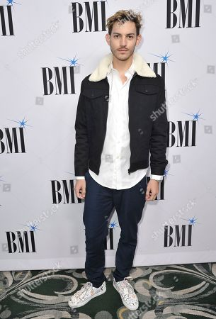 Nick Hissom arrives at the 67th annual BMI Pop Awards, at the Beverly Wilshire Hotel in Beverly Hills, Calif