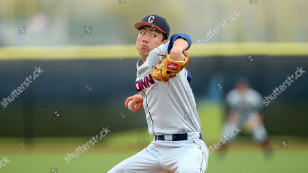 Stock Picture of Connecticut's Jimmy Wang delivers a pitch during an NCAA college baseball game against Rhode Island, in Kingston, R.I