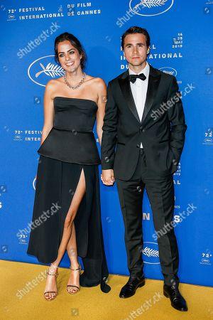 Stock Photo of Anouchka Delon and Julien Dereins