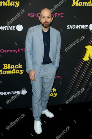 """Paul Scheer arrives at the """"Black Monday"""" FYC Event at the Saban Media Center at the Television Academy, in Los Angeles"""