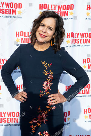 Laura Niemi arrives for the unveiling of the 'Batman' and 'The Six Million Dollar Man' exhibition at the Hollywood Museum in Los Angeles, California, USA, 14 May 2019. The Batman exhibition marks the 80th anniversary of the superhero.