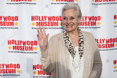 Lee Meriwether arrives for the unveiling of the 'Batman' and 'The Six Million Dollar Man' exhibition at the Hollywood Museum in Los Angeles, California, USA, 14 May 2019. The Batman exhibition marks the 80th anniversary of the superhero.
