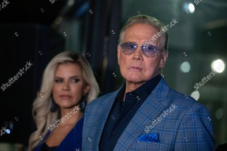 Lee Majors (R) and his wife US actress Faith Majors (L) attend the unveiling of the 'Batman' and 'The Six Million Dollar Man' exhibition at the Hollywood Museum in Los Angeles, USA, 14 May 2019. The Batman exhibition marks the 80th anniversary of the superhero.