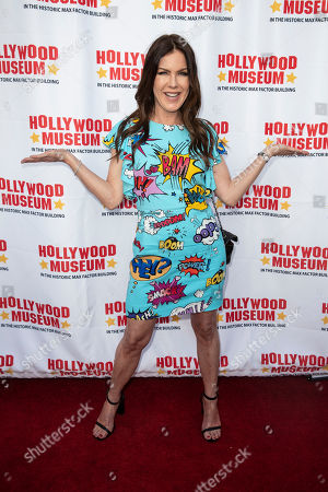 Kira Reed Lorsch arrives for the unveiling of the 'Batman' and 'The Six Million Dollar Man' exhibition at the Hollywood Museum in Los Angeles, California, USA, 14 May 2019. The Batman exhibition marks the 80th anniversary of the superhero.