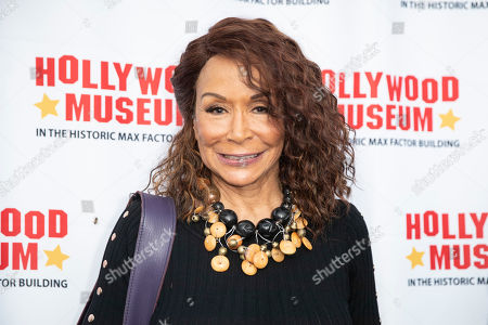 Freda Payne arrives for the unveiling of the 'Batman' and 'The Six Million Dollar Man' exhibition at the Hollywood Museum in Los Angeles, California, USA, 14 May 2019. The Batman exhibition marks the 80th anniversary of the superhero.