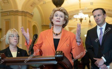 United States Senator Debbie Stabenow (Democrat of Michigan) speaks to the media
