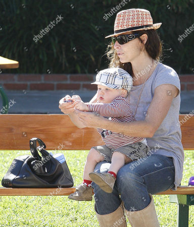 Minnie Driver and son, Henry Story Driver