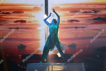 Finnish dancer Etel Roehr performs as part of the show of contestants Darude feat. Sebastian Rejman of Finland during the dress rehearsals for the Semi Final of the 64th annual Eurovision Song Contest (ESC) at the Expo Tel Aviv, in Tel Aviv, Israel, 13 May 2019 (issued 15 May 2019). The Semi Final was held on 14 May.