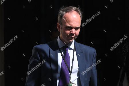 Gavin Barwell, Theresa May's chief of staff, leaves No.10 Downing Street