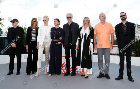 Joshua Astrachan, US actress Sara Driver, British actress Tilda Swinton, US actress Selena Gomez, US director Jim Jarmusch, US actress Chloe Sevigny, US actor Bill Murray and US producer Carter Logan pose during the photocall for 'The Dead Don't Die' at the 72nd annual Cannes Film Festival, in Cannes, France, 15 May 2019. The movie is presented in the Official Competition of the festival which runs from 14 to 25 May.