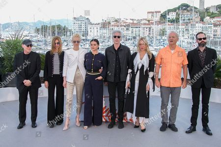 Selena Gomez, Tilda Swinton, Selena Gomez, Jim Jarmusch, Chloe Sevigny, Bill Murray. Producer Joshua Astrachan, from left, actors Sara Driver, Tilda Swinton, Selena Gomez, director Jim Jarmusch, actors Chloe Sevigny, Bill Murray and producer Carter Logan pose for photographers at the photo call for the film 'The Dead Don't Die' at the 72nd international film festival, Cannes, southern France