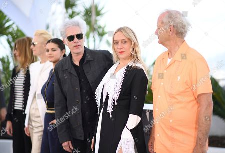 Sara Driver, Tilda Swinton, Selena Gomez, Jim Jarmusch, Chloe Sevigny, Bill Murray. Actors Sara Driver, from left, Tilda Swinton, Selena Gomez, director Jim Jarmusch, actors Chloe Sevigny and Bill Murray pose for photographers at the photo call for the film 'The Dead Don't Die' at the 72nd international film festival, Cannes, southern France